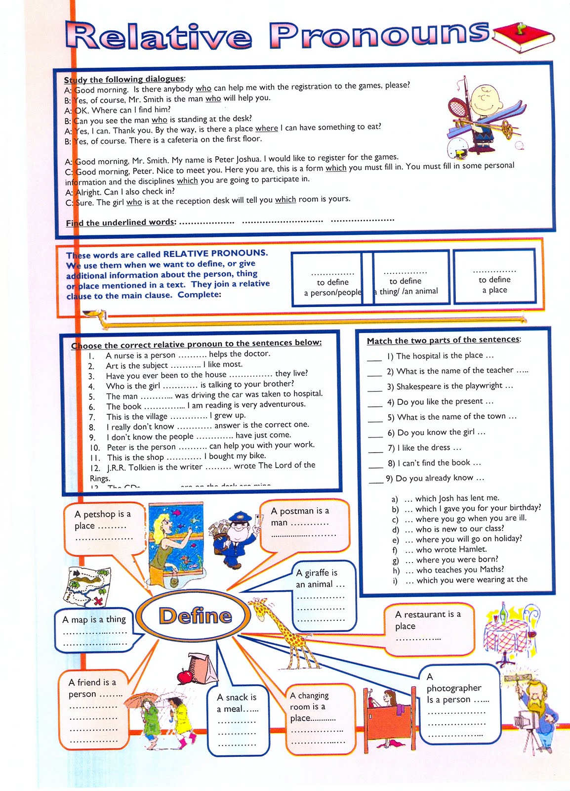 worksheet Relative Pronoun Worksheet Fiercebad Worksheet And – Relative Pronoun Worksheet