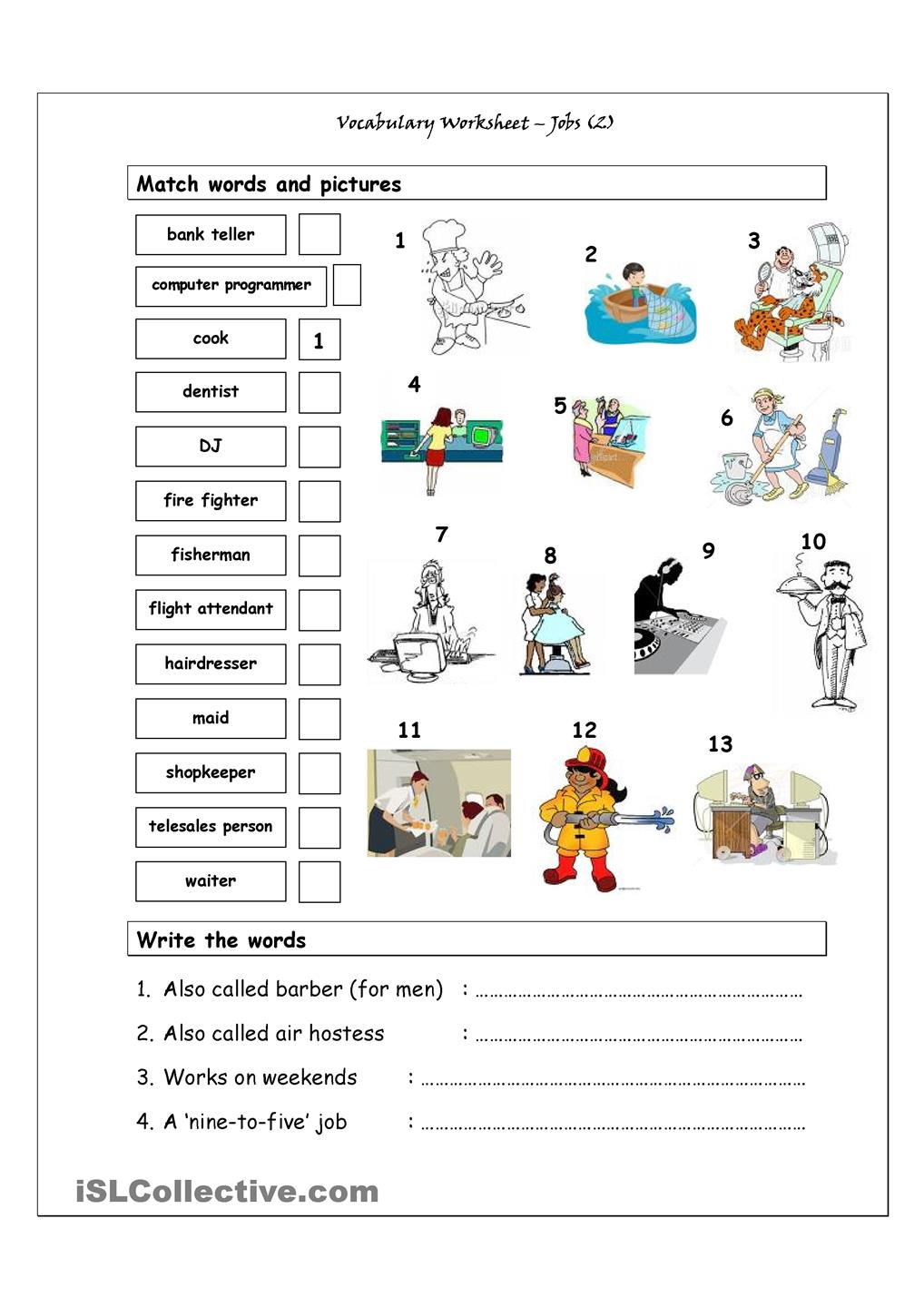 Jobs Flashcards furthermore Big Let Me Introduce Myself likewise Vocabulary Matching Worksheet Jobs also Learning Material For Worksheets Free Printable Year Olds Math Three Pi Best Images Of further Short Vowel Worksheets. on kindergarten worksheets reading