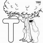 Abc+Letter+T+Tree+Sesame+Street+Cookie+Printable+Coloring+Pages