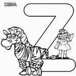 Abc+Letter+Z+Zebra+Sesame+Street+Prairie+Printable+Coloring+Pages