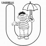 Abc-Letter-U-Umbrella-Sesame-Street-Ernie-Printable-Coloring-Pages-640x640