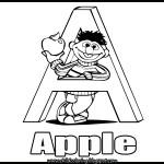 Sesame Street Alphabet Coloring Letter A