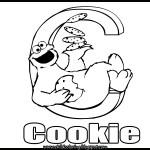 Sesame Street Alphabet Coloring Letter C