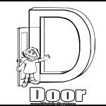 Sesame Street Alphabet Coloring Letter D