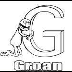 Sesame Street Alphabet Coloring Letter G