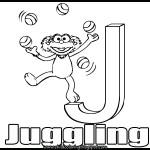 Sesame Street Alphabet Coloring Letter J