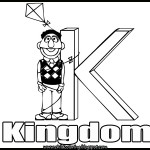 Sesame Street Alphabet Coloring Letter K