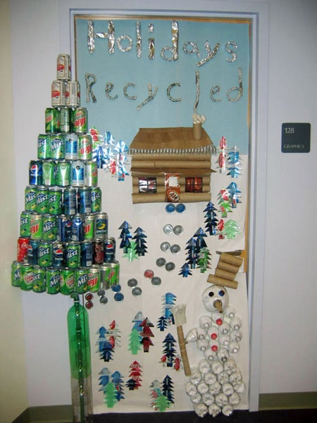 Christmas doorsTake the pen ~ 142106_Recycled Christmas Decorations Ideas For Office