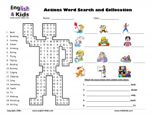 actions word search