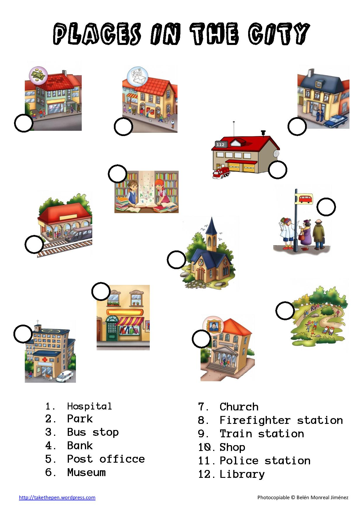 places ingles vocabulary atividades para em ingles aula aprender map takethepen pen