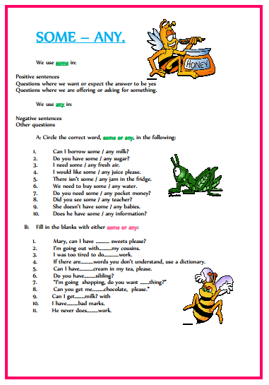 English grammar. ElementaryTake the pen
